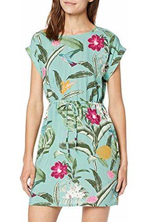 Vero Moda Women's Vmsimply Easy Ss Short Dress AOP:Tropicana-Wasabi