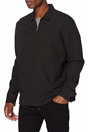 New Look Men's Zip Through Crepe Casual Shirt