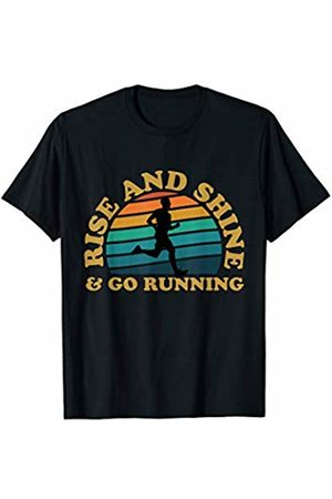 Bowes Fitness Rise And Shine & Go Running Male Runner T-Shirt