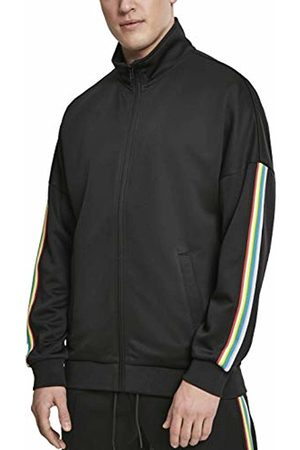 Urban classics Men's Sleeve Taped Track Jacket (Blk/Multicolor 00562)