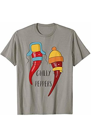 Funny Chilly Pepper T-Shirts Chilly Peppers Funny Cold Chilli Pepper in Scarves T Shirt
