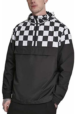 Urban classics Men's Check Pull Over Jacket (Blk/Chess 01713)