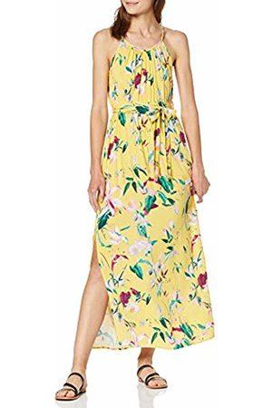 Vero Moda Women's Vmsimply Easy Slit Maxi Dress AOP:TRILLE-Yarrow