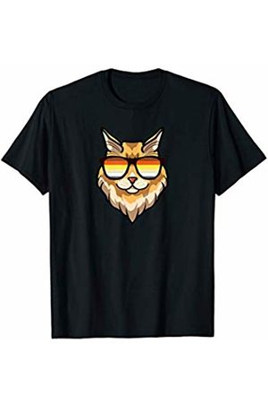 LGBT Flag Maine Coon by Mezziteez Maine Coon Cat Mom Sunglasses