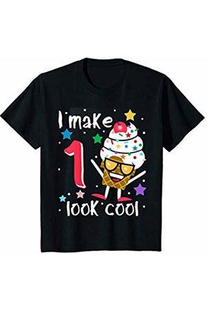 Swanky Bazaar Birthday Shirts Youth I Make 1 Look Cool Sunglasses Ice Cream Cone Birthday Party T-Shirt
