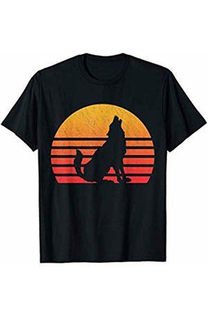 Classic Vintage Retro T-Shirts Vintage Retro Sunset Wolf T-Shirt