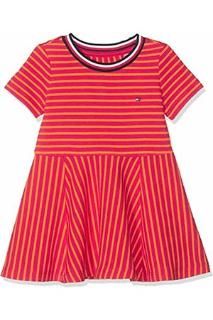 Tommy Hilfiger Baby Girls' Stripe Knit Skater Dress (Virtual /Russet 638)