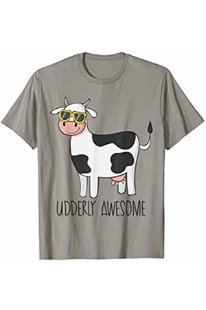 Awesome Cow T-Shirts Udderly Awesome Funny Cow Wearing Sunglasses T Shirt