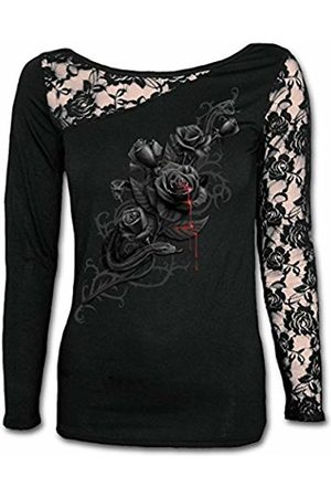 Spiral Direct Women's Fatal Attraction - Lace One Shoulder Top Long Sleeve 001