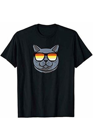 LGBT Flag British Shorthair by Mezziteez British Shorthair Cat Mom Sunglasses