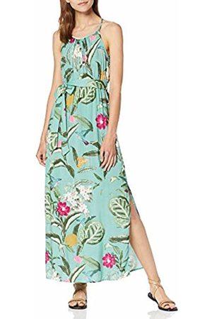 Vero Moda Women's Vmsimply Easy Slit Maxi Dress, AOP:Tropicana-Wasabi