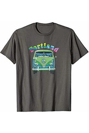 Hippie Van Road Trip Tie Dye T-Shirts JRJC Boys Ties - Portland Tie Dye T-Shirt Vintage Road Trip Hippie Van Gift T-Shirt