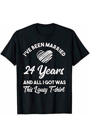 Medotukito 24th Wedding Anniversary Gift and All I Got Was This Shirt