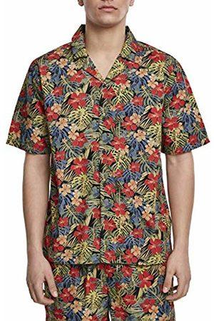 Urban classics Men's Pattern Resort Shirt Casual