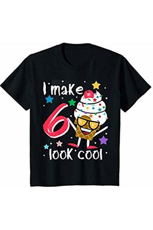 Swanky Bazaar Birthday Shirts Youth I Make 6 Look Cool Sunglasses Ice Cream Cone Birthday Party T-Shirt
