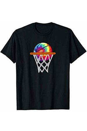 Cool Basketball Lover Shirts Tanks Tops Gift Stuff Basketball Tie Dye Retro Hippie Trippie Rainbow Swirl Player T-Shirt