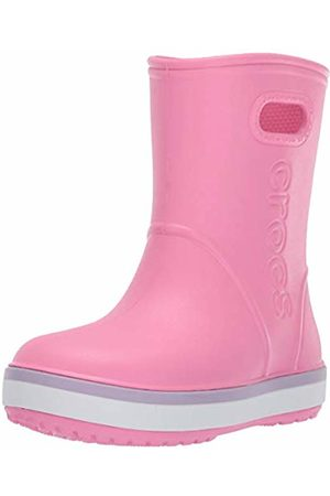 Crocs Boys Boots - Crocband Rain Boot Kids Wellington ( Lemonade/Lavender 6qm)