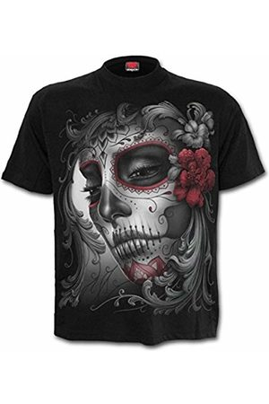 Spiral Direct Women's Skull Roses - Front Print T-Shirt 001