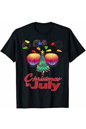 Christmas In July Family Gifts Men Women Kids Christmas In July Sunglasses Xmas Tree Summer Fun T-Shirt
