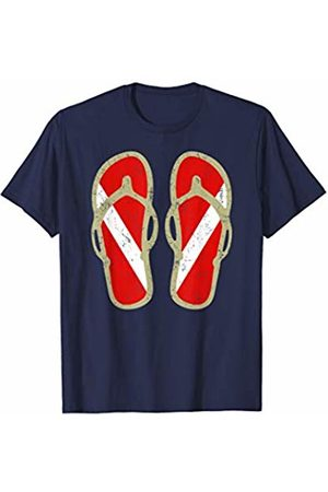 Scuba Diving Clothing Shop Scuba Diving T-Shirt | Diver Flag Flip Flops vintage graphic