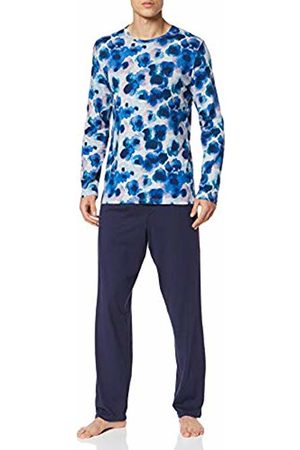 Hom Men's Aqua Flower Long Sleepwear Pyjama Set
