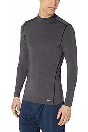 Amazon Control Tech Mock Neck Long-sleeve Shirt Charcoal Heather