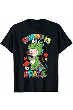 Back To School T Rex Shirts Boys Dinosaur Gift Roaring Into 3rd Grade Dinosaur Shirt First Day of School T-Shirt