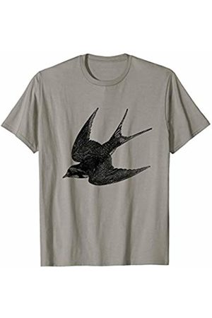 The New Antique Barn Swallow Bird Print T-Shirt