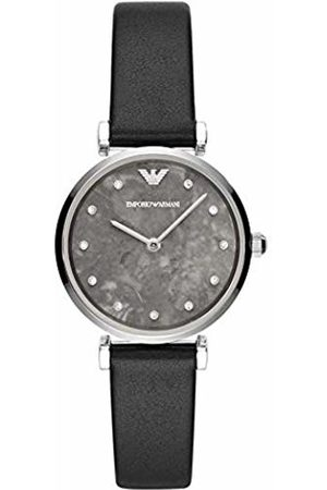 Emporio Armani Womens Analogue Quartz Watch with Leather Strap AR11171