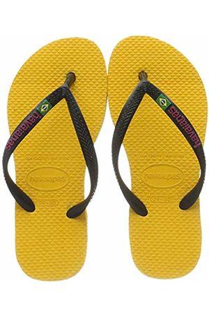 Havaianas Girls' Slim Brasil Logo Flip Flops