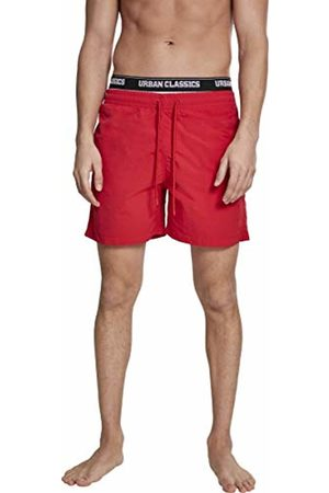Urban classics Men's Two in One Swim Shorts (Firered/Wht/Blk 01441)