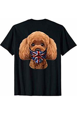 Fox Republic T-Shirts Playful Toy Poodle Dog in Flag of United Kingdom Bandana T-Shirt