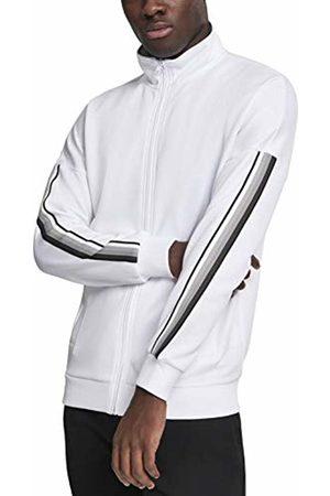 Urban classics Men's Sleeve Taped Track Jacket (Wht/Gry 00230)