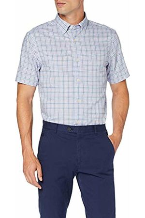 GANT Men's D1. Tp Oxford Check Reg Hbd Ss Casual Shirt, (Hamptons 420)
