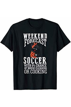 Hadley Designs Weekend Forecast Soccer Ball Mom life for Mothers Day Gift T-Shirt