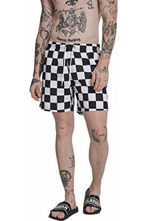 Urban classics Men's Check Swim Shorts (Chess 01683)