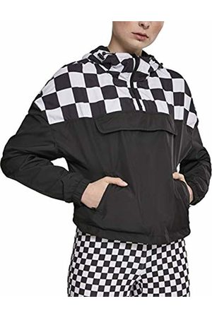 Urban classics Women's Ladies Short Oversize Check Pull Over Jacket (Blk/Chess 01713)