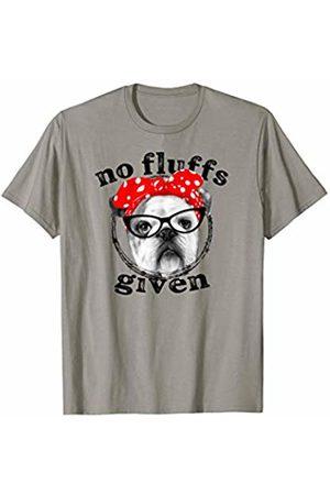 Soul Bleach Retro Vintage Dog Tees No Fluffs Given Funny Bulldog Bandana T-Shirt