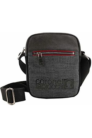Coronel Tapiocca Red Men's Messenger Bag, (Negro)