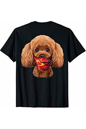Fox Republic T-Shirts Playful Toy Poodle Dog in Soviet Union Bandana T-Shirt