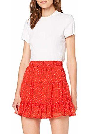 1f929648cc Vero Moda Women's Vmfay Nw Short Skirt, (Fiery AOP:opaya-( Dots. Amazon
