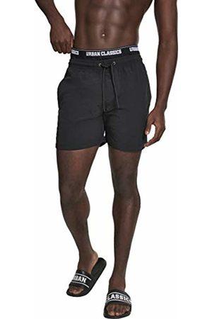 Urban classics Men's Two in One Swim Shorts, Blk/Wht 00703