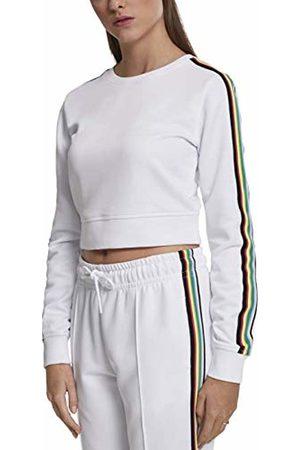 Urban classics Women's Ladies Multicolor Taped Sleeve Crewneck Jumper, 00220