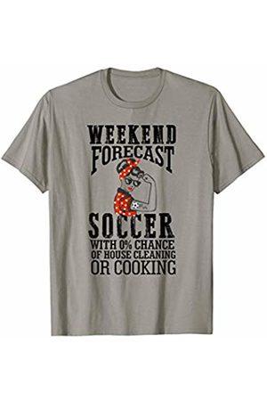Hadley Designs Weekend Forecast Soccer Mom for Women Gift Flexing Woman T-Shirt