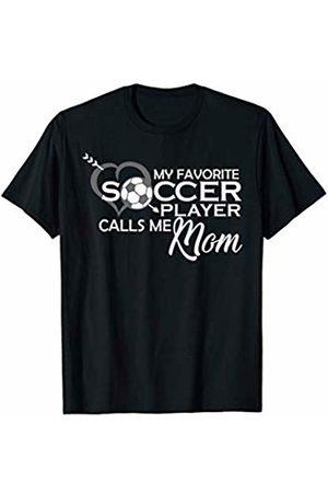 Hadley Designs My favorite soccer player calls me mom Heart Ball Arrow Life T-Shirt