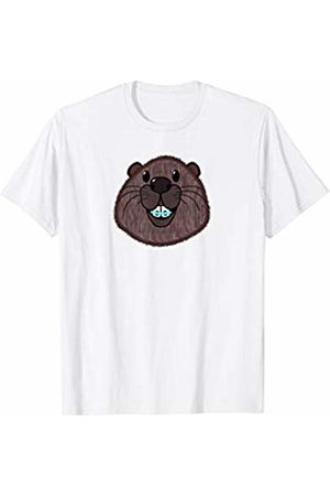 funny cute animal shirt Cute beaver head with dental braces T-Shirt