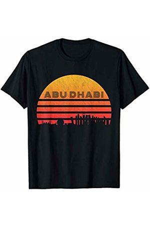 Classic Vintage Retro T-Shirts Vintage Retro Sunset Abu Dhabi Skyline T-Shirt