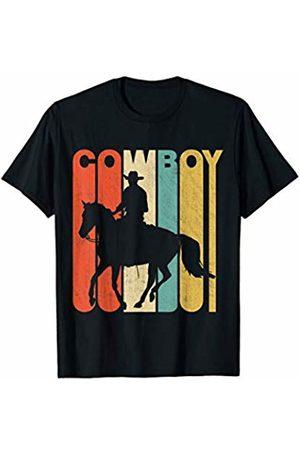 Classic Vintage Retro T-Shirts Vintage Retro Cowboy Silhouette T-Shirt