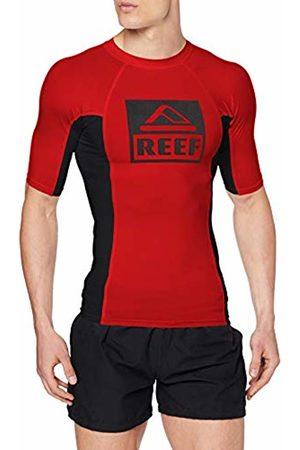 Reef Men's Logo Rashguard Ii Ss Swim Shirt, ( / Reb)