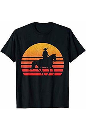 Classic Vintage Retro T-Shirts Vintage Retro Sunset Cowboy T-Shirt